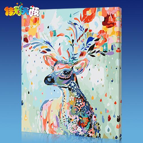 佳彩天颜diy数字油画客厅风景花卉动漫人物填色手工绘油彩装饰画
