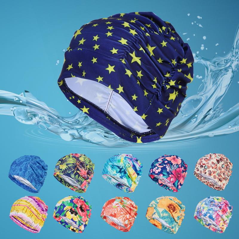 泳帽女 成人布料長發 大號泳帽韓國女士加大泳帽遊泳帽子頭套