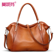 2015 tide leather handbags for fall/winter fashion suede cowhide middle-aged lady bag new style shoulder bag handbag women