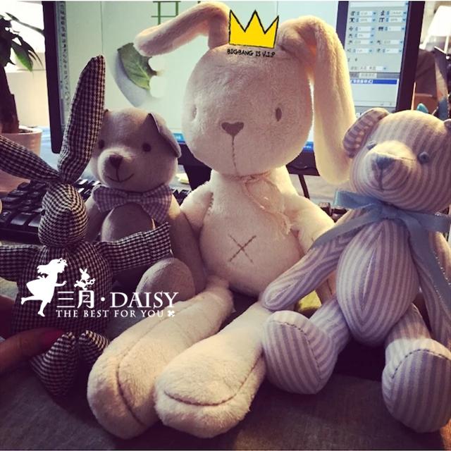 Электронной почты Великобритании baby успокаивающий комфорт игрушка кролик Плюшевый кролик кукла сна моделирования зайчика