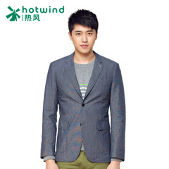 Hot new men's business casual suit jacket coat men's double-breasted suit of self 21W5103