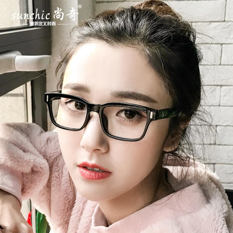 平光镜女潮2018新款电脑护目镜男文艺复古方形近视眼镜框架