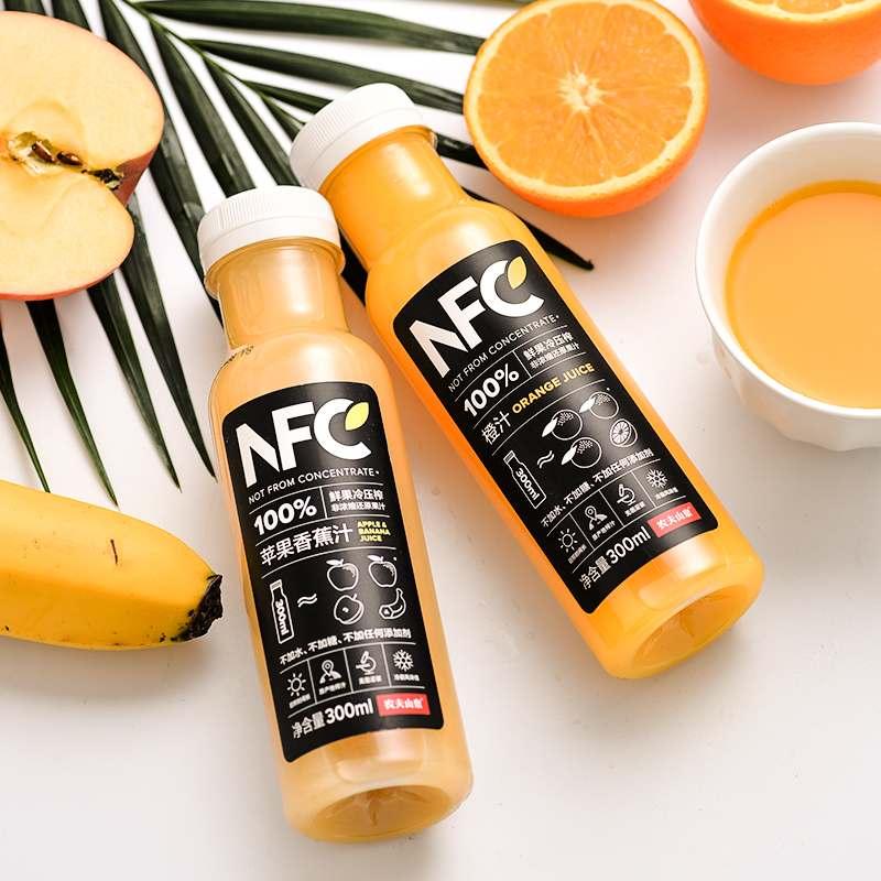 8 новый месяц товары сельское хозяйство муж гора весна NFC фруктовый сок 100% оранжевый сок флакон напитки 300ML*6 в бутылках