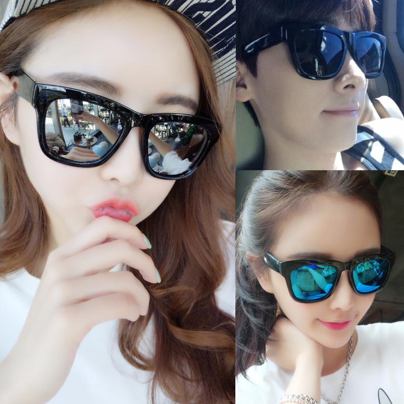 2017 новый темные очки женщина волна 2016 мужчина корея звезда поляризующий очки женщина близорукость круглый лицо долго личность очки