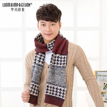2014 new men wool scarf more young people fall and winter day han2 ban3 of extended warm student centers