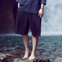On August 4, the new Original Chinese wind loose linen shorts Cotton and linen comfortable shorts restoring ancient ways Male tide