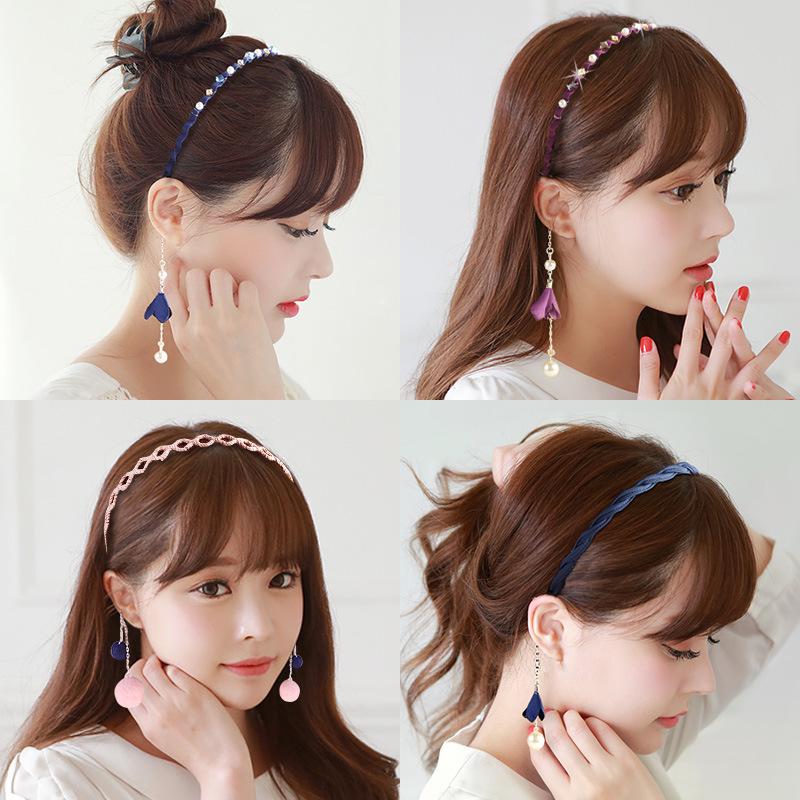 開飾樂日韓 發箍簡約流蘇假耳環發卡珍珠頭箍耳墜百搭發飾飾品