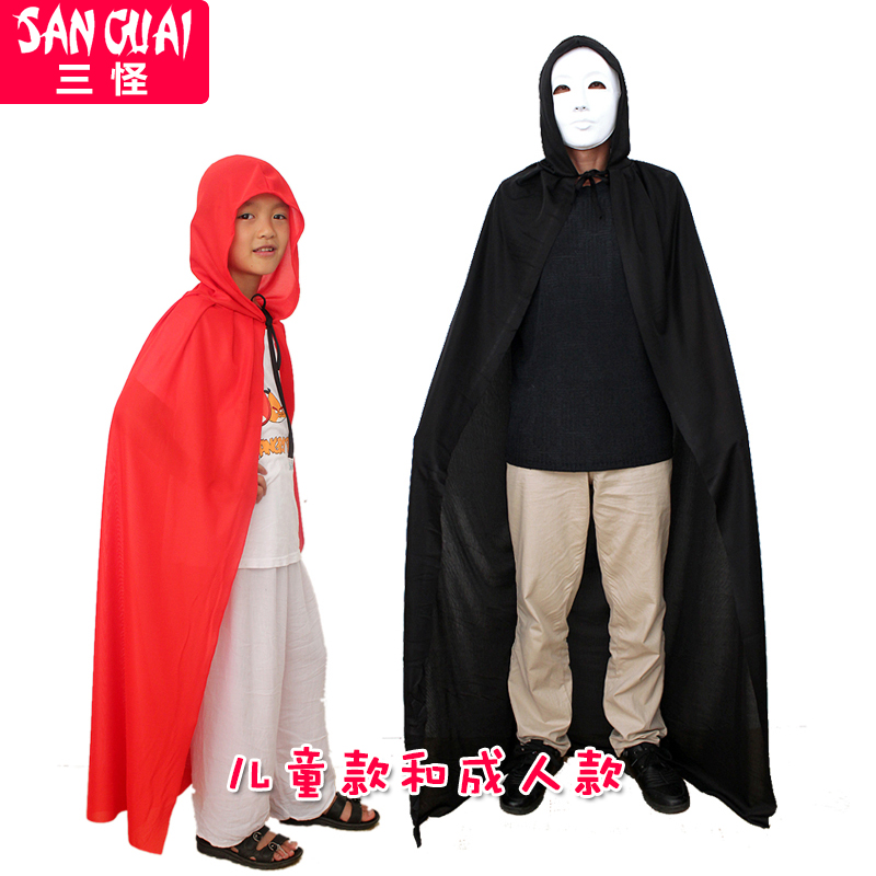 Three strange Christmas show Cape dress party supplies adult children red hat