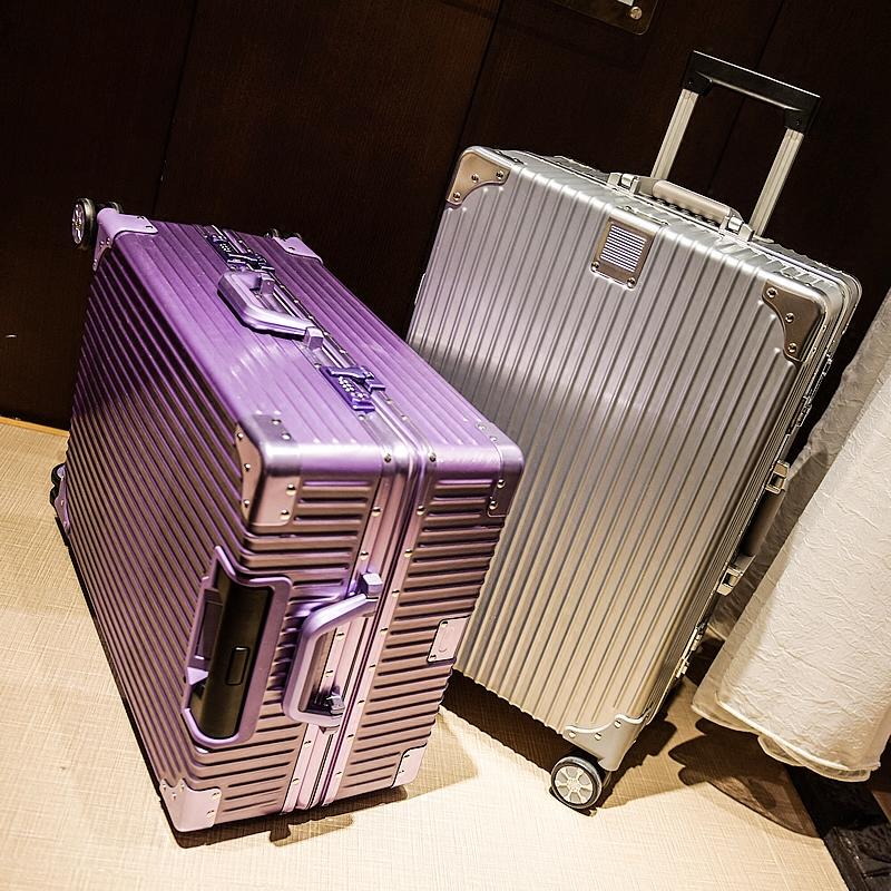 直角拉丝防刮铝框拉杆箱20旅行箱24行李箱28寸密码箱万向轮托运箱