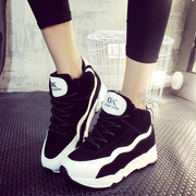 New Korean version 2015 fall fashion to fight thick-soled platform shoes to help students with sports and leisure shoes wave