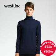 Westlink/2015 West New Korean version of the Joker in the winter to keep warm men's slim sleeve turtleneck