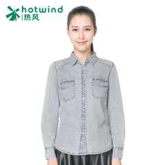 Hot ladies ' spring and autumn ladies denim shirt women's long boom xsy women of England 02H5701