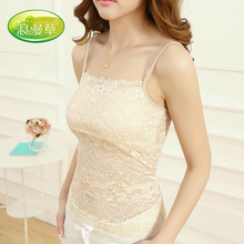 Romantic grass spring bud silk condole belt unlined upper garment of tank tops can be worn outside the cup long unlined upper garment that wipe a bosom exposed hollow wrapped chest