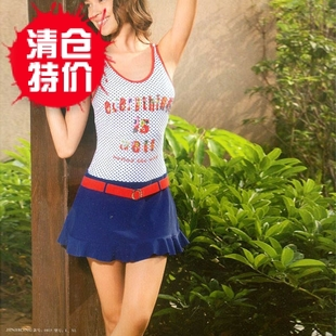 Female Siamese skirt swimsuit hot spring swimwear 2015 genuine students clean children s swimming girls big virgin girls