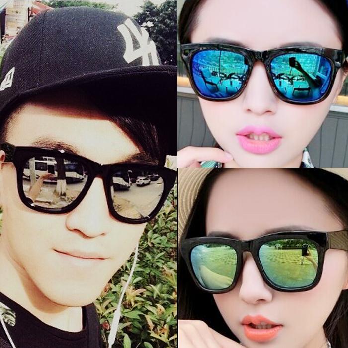Sunglasses 2020 mercury reflective Sunglasses male and female lovers star glasses fashion retro dazzling mirror eyes