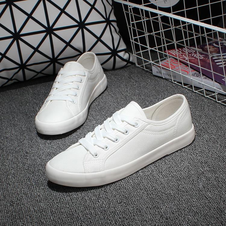 Мори девушка корейской версии потоков белым плоским дном паруса далеко обувь девушки туфли белые туфли женщин Женская обувь Белый Обувь