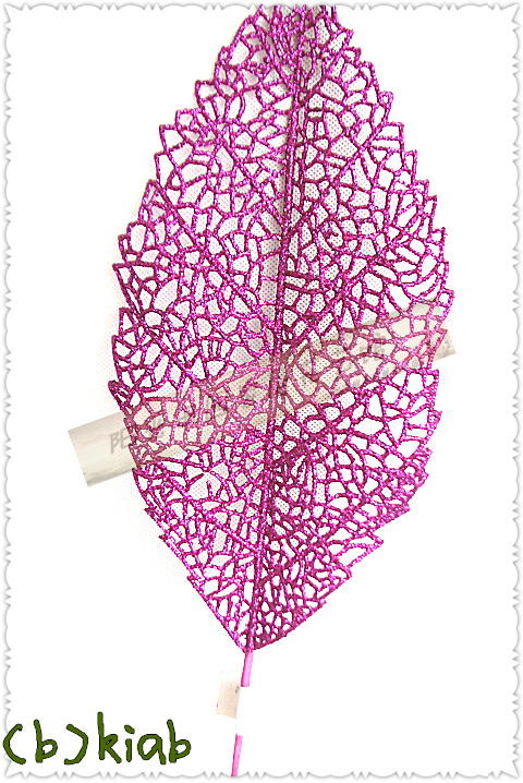 Package purplish red decorative flower leaf branch flower arrangement