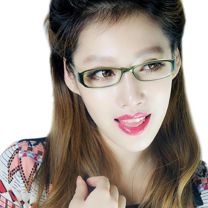 Новые дамы TR90 ультра свет может быть изогнутой кадры корейских моде очки поле очки поле 8011