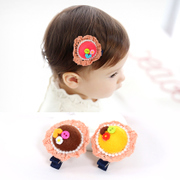 Know Richie children''s hair cut wool little Hat hair clip hairpin cute Pearl Jewelry girls clips