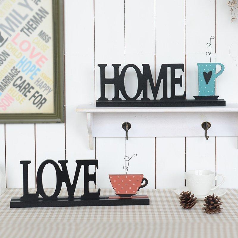 美式複古英文字母HOME家居隔板裝飾品擺設客廳咖啡廳店鋪 擺件