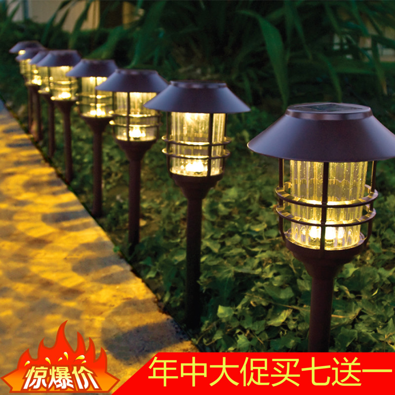 High quality solar outdoor lawn lamp stainless steel courtyard lamp household garden waterproof plug in decorative landscape street lamp