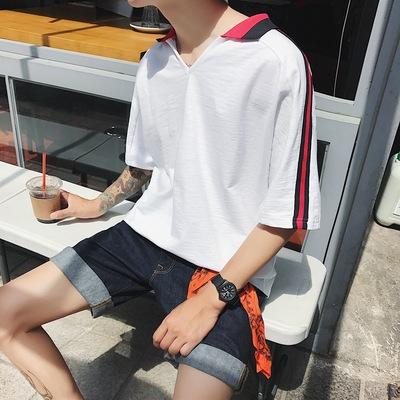 夏季新款男士韩版短袖POLO衫短袖T恤潮 T669/P40