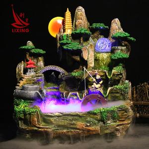 风水轮假山流水喷泉...