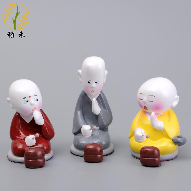 Керамика ремесла статья грязь человек кукла домой вино декоративный статья украшение китайский ветер характеристика маленькие подарки три буддийский монах