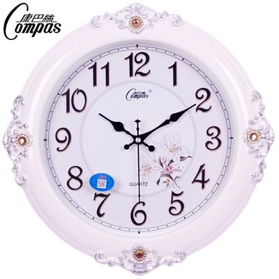 康巴丝钟表时尚创意挂钟北欧式客厅挂表静音现代卧室家用大石英钟