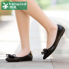 Hot sweet bowknot shoes women shoes-fall 2015 shallow flats pointy shoes 71H5709