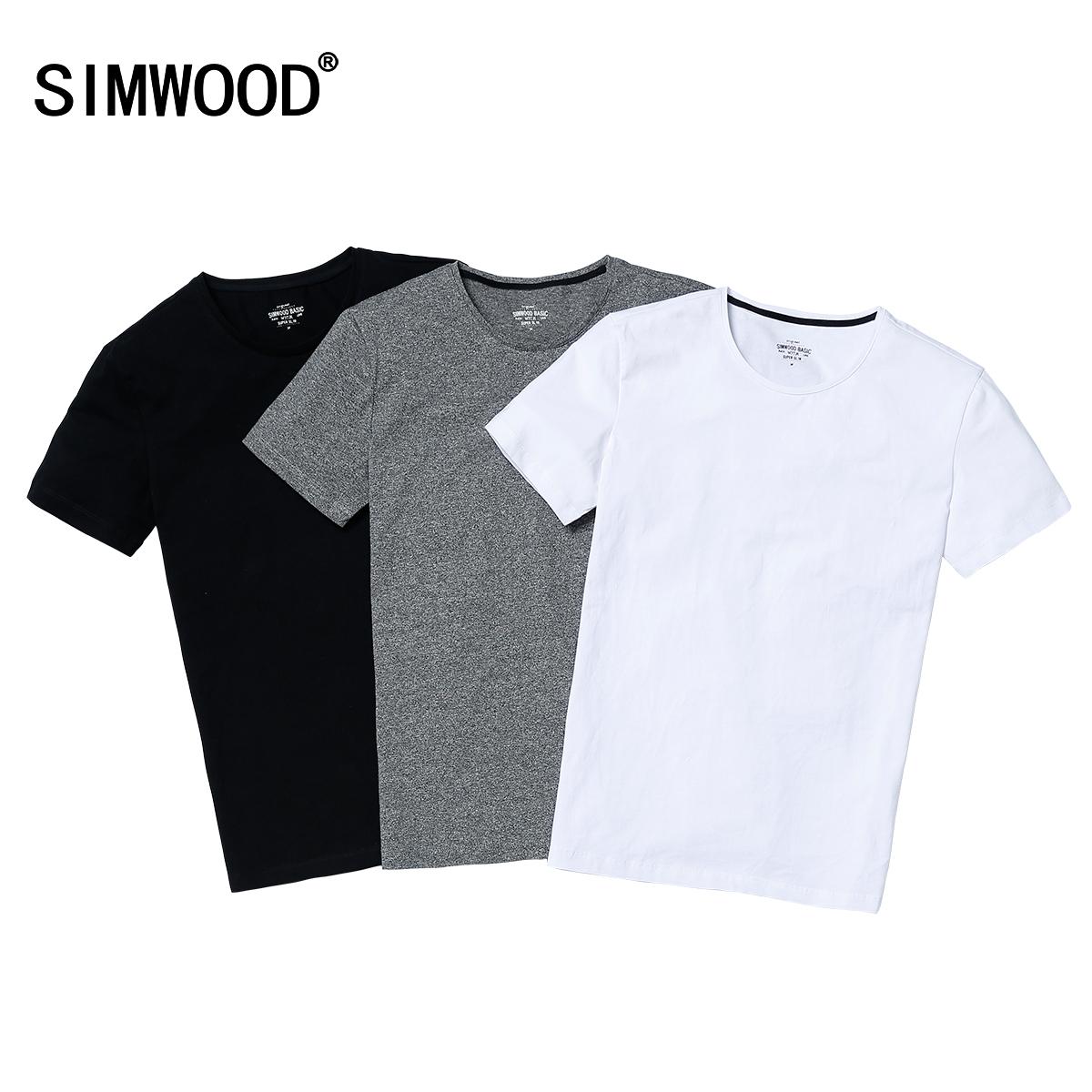 simwood 純棉圓領短t