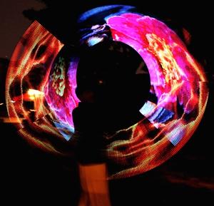 Светодиодные нунчаку, 60 led полный цветной цифровой показать большое изображение содержание может быть изменено прохладный графические нунчаку