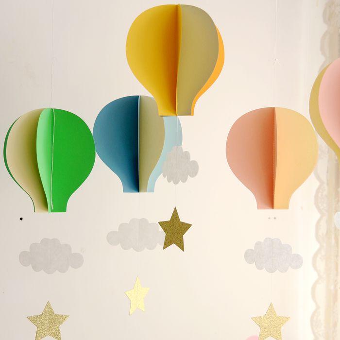 国庆生日聚会立体热气球挂饰婚礼会场幼儿园商店橱窗节日布置装饰
