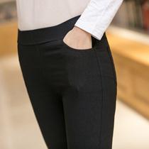 打底裤外穿紧身长裤大码铅笔小脚2020新款黑色薄款春秋夏季女裤子