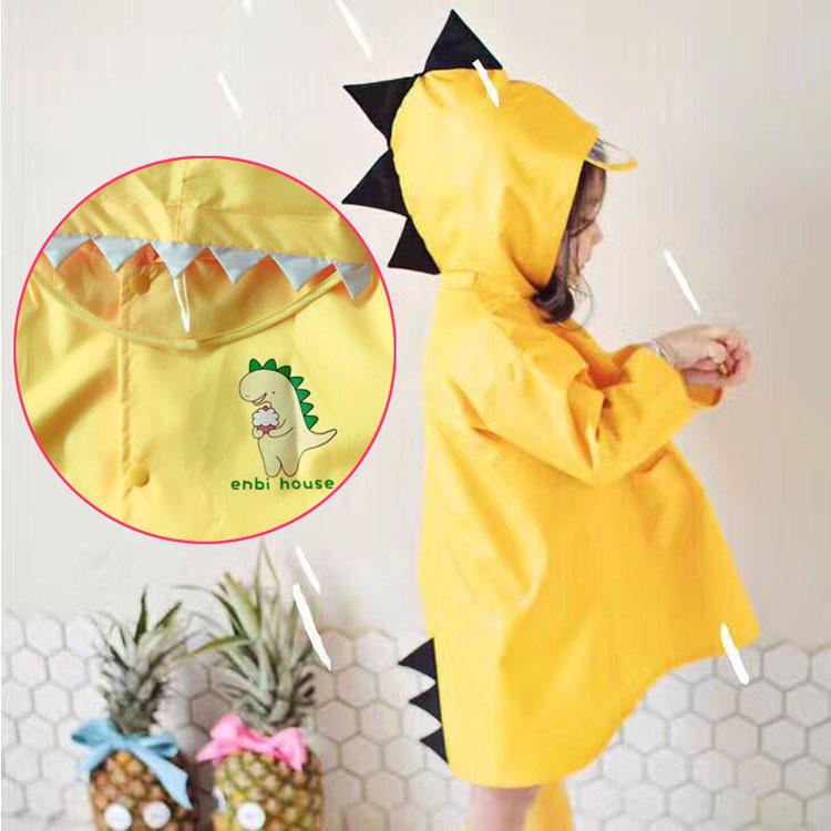 新品enbihouse恐龙造型儿童雨衣男女童幼儿可爱小学生雨披3D立体