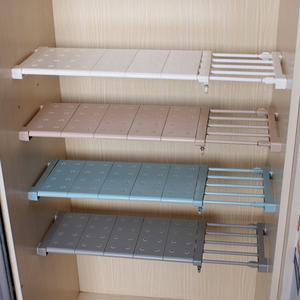衣柜收纳分层隔板柜子免钉置物架