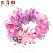 Mail ya na new hair accessories Korea silk gauze man cleans the rope end flower headdress ornaments made by the ADC Bazaar