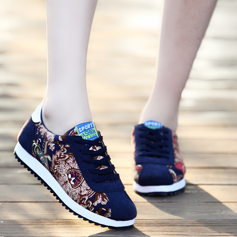 Падение моды корейская студентка Обувь повседневная обувь кроссовки Форрест Обувь кроссовки волны обувь женская обувь