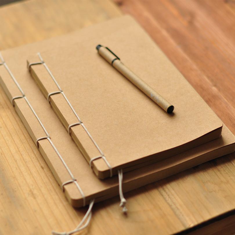Otaku-复古手工线装本 牛皮纸空白内芯仿古笔记本记事本素描本(非品牌)
