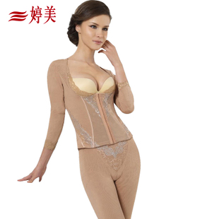 Tingmei genuine counter postpartum girly corset underwear abdomen thin waist and long sections suit female split
