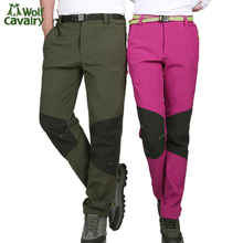 The Wolf ride the autumn/winter outdoor charge pants Joining together the stylish men and women to thicken the warm velvet waterproof mountain wind pants