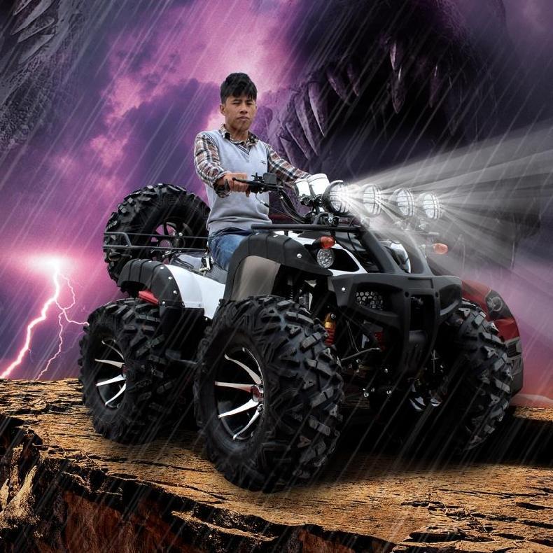 大公牛沙滩车 四轮 越野山地车125-250CC越野4轮改装摩托车轴传动