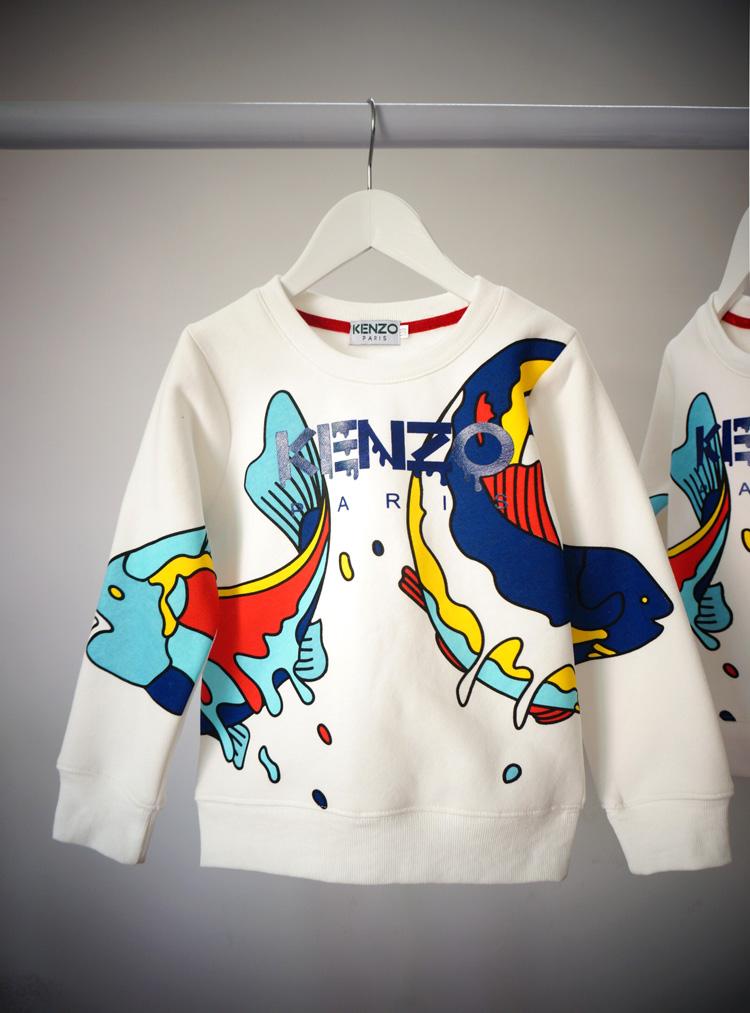 КЭНДЗО ребенка с 2015 года новый осенний рыбы мужчины Девы конце Детская одежда детей свитер baby свитер рубашки