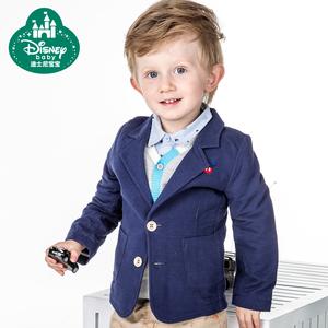 迪士尼宝宝 儿童西装 男童西装韩版修身套装宝宝小西服秋款
