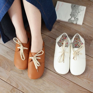 Mori Women's Shoes Flat Round Japanese Mori Department of shoes Pastoral Floral Japanese doll wearing two shoes Specials