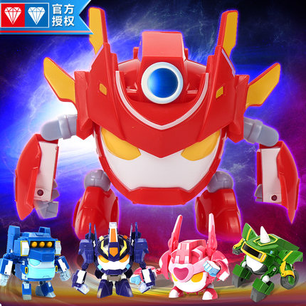 正版奥迪双钻开心宝贝2变形玩具小心甜心粗心花心开心超人机车侠