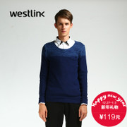 Westlink/West New 2015 winter stitching thin pullover men's casual sweatshirts