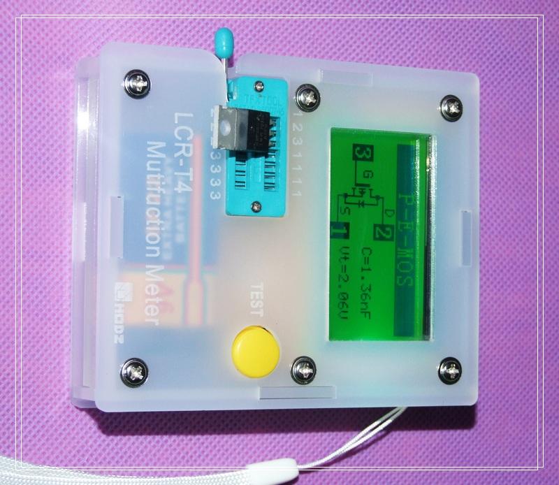 (Подлинный) LCR-T4 закончил графический транзистора сопротивление конденсатора ESR тестер SCR
