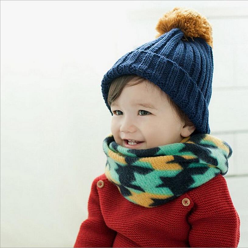 Новых детей пяти звездочный заклинание цвет шарф воротник воротники прекрасный ребенок мужского и женского пола супер мягкие теплой осенью и зимой