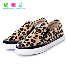 Men's shoes 2015 children of the spring and autumn period and the new leopard sneaker han edition soft bottom horse hair girl camouflage leisure shoes